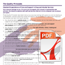 The Quality Principles: Standard Expectations of Care and Support in Drug and Alcohol Services - poster
